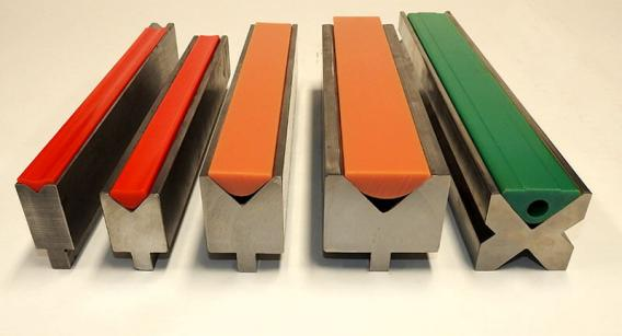 Urethane V-Pads for economical, mar-free, and radius bending